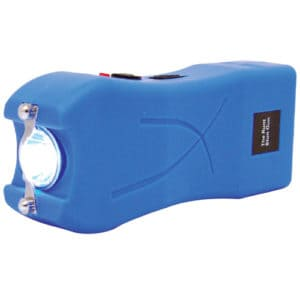 blue runt stun gun flashlight side view