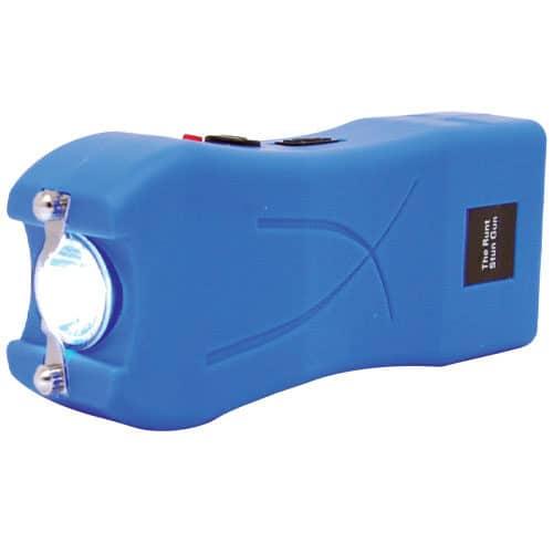 blue runt stun gun flashlight side view
