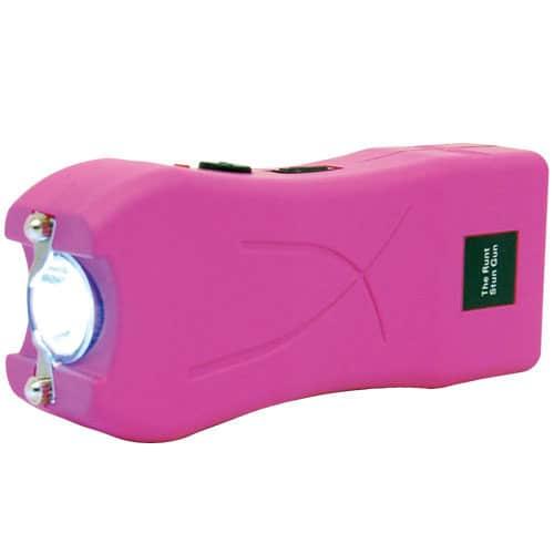 pink runt stun gun flashlight side view