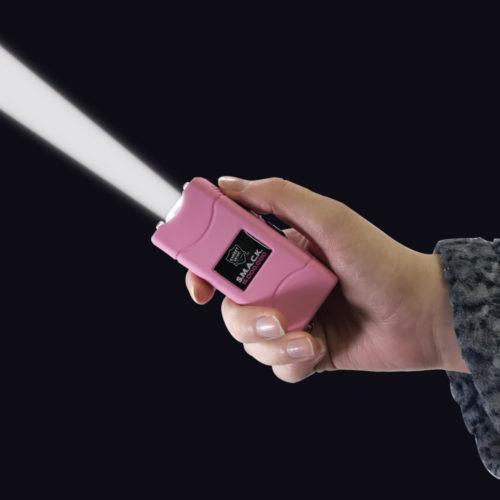 Pink SMACK stun gun with flashlight