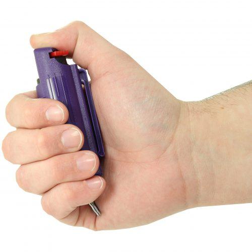 Streetwise 18 purple pepper spray in hand