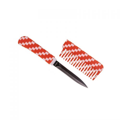 ThugBusters Comb Knife Open-White Orange