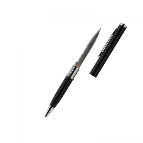 ThugBusters Black Serrated Edge Pen Knife