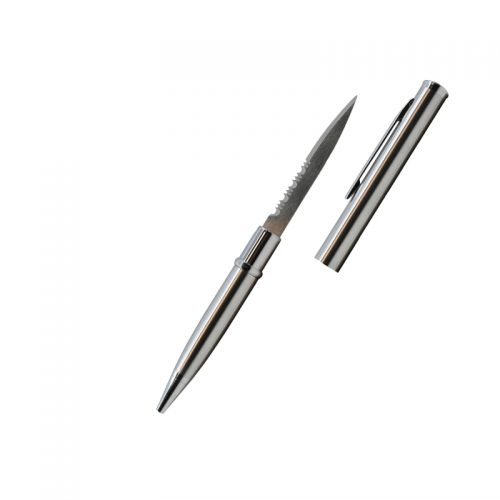 ThugBusters Silver Serrated Edge Pen Knife