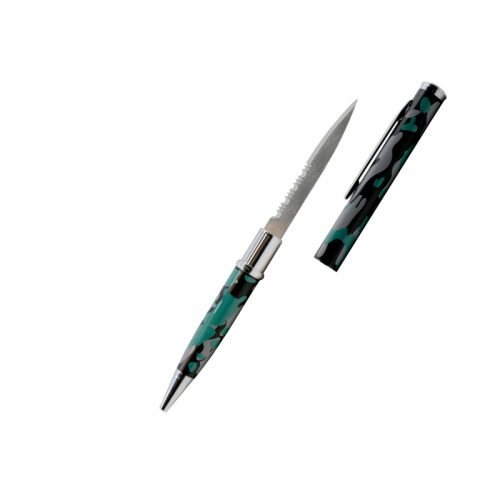 ThugBusters Camo Serrated Edge Pen Knife