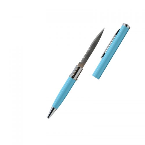 ThugBusters Teal Serrated Edge Pen Knife