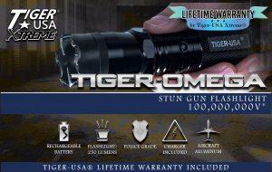 ThugBusters Omega flashlight stun gun box
