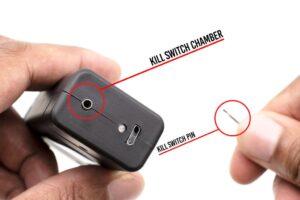 ThugBusters Quantum Stun gun safey pin detail